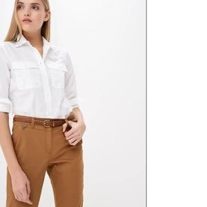 Ralph Lauren White Button Down Poplin L/S Shirt